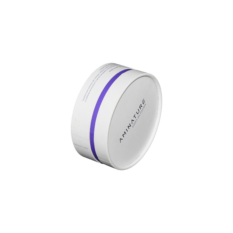 Paper Round Box for Skin Care Packaging Cosmetic Bottles Packaging with Velvet Foam Holder and Hot Foil Stamping