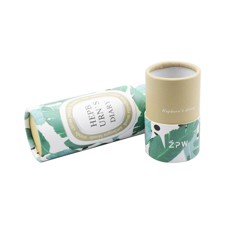 Buy Eco Friendly Paper Cardboard Cosmetics Cylinder Tube Packaging Boxes with Custom Printing Serivce at The Cheapest Price